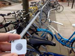 Tile detection device, with bikes