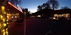 Downtown Davis at night