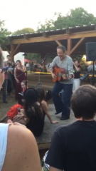 Jonathan Richman Playing at the Butcher Shop