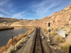 View from the end of the eastbound California Zephyr, Oct. 30, 2017