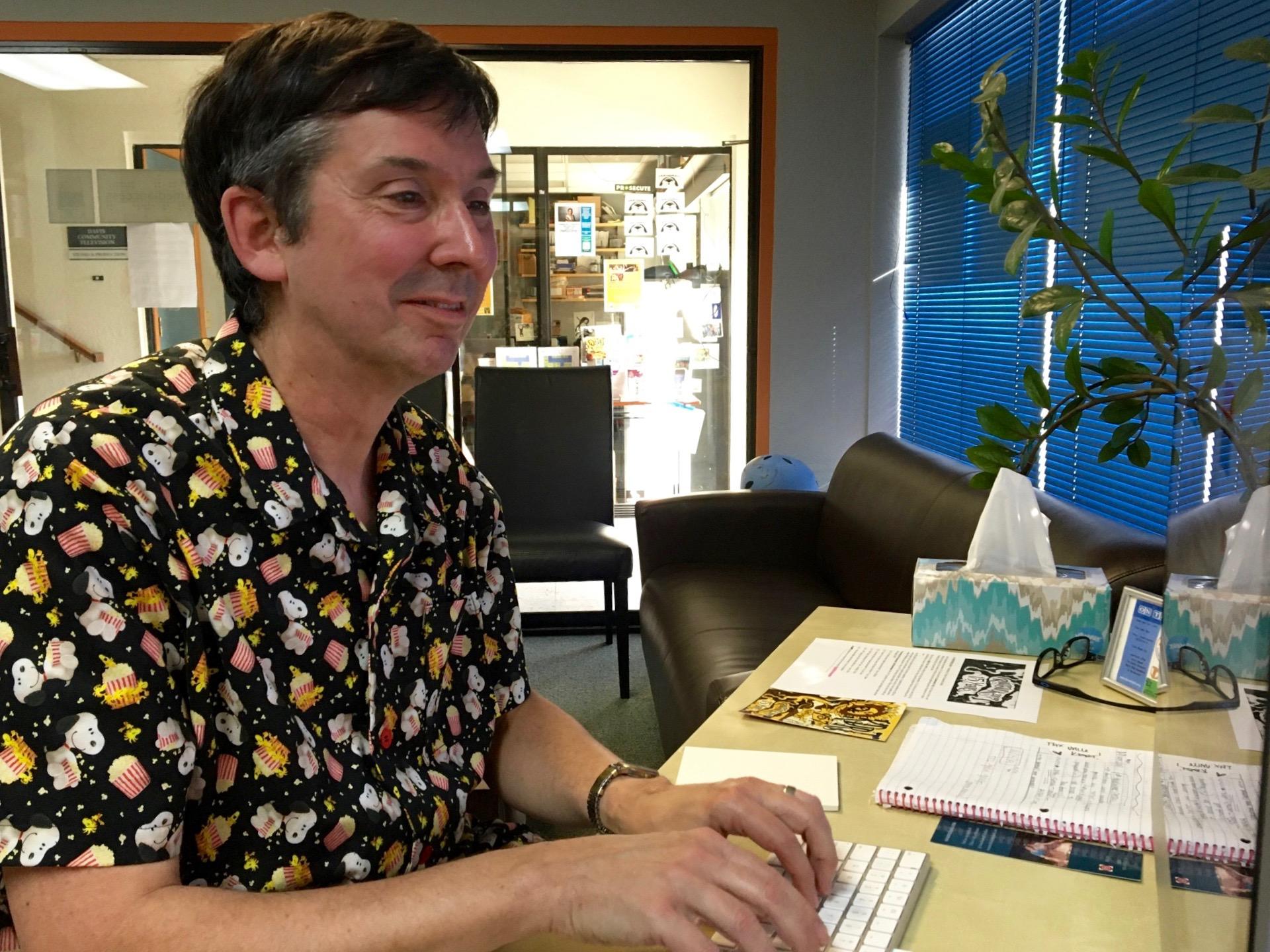 Derrick Bang at the keyboard, 2019