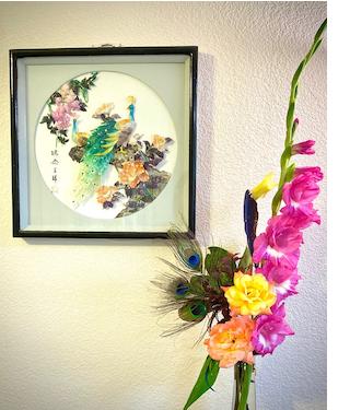 art in flowers