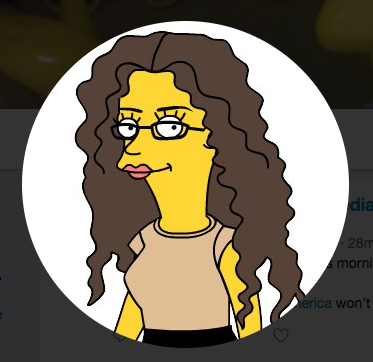 Karma Waltonen, as a Simpsons character