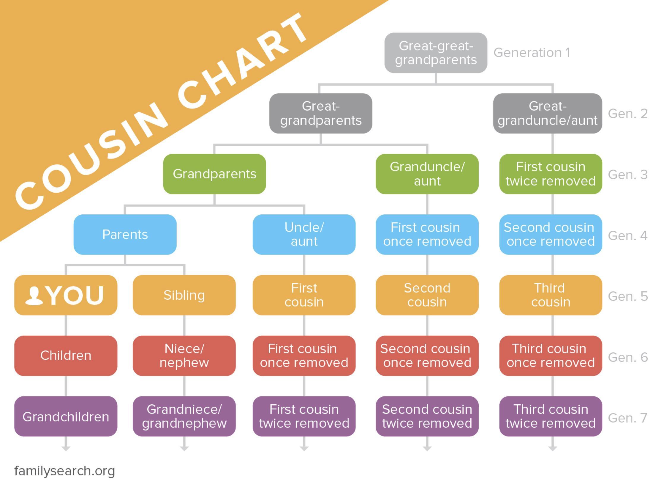 cousin chart