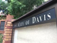 Davis sign at City Hall