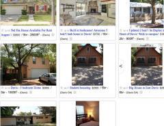 Davis rental listing July 2016
