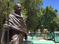 Statue of Gandhi in Davis CA park