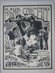 Poster for Oxford Circle concert in Davis' Central Park
