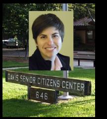 Maria Lucchesi in Davis Senior Center