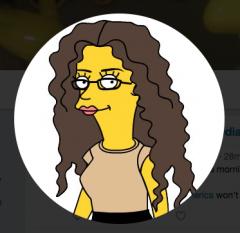 Karma Walton as a Simpsons character