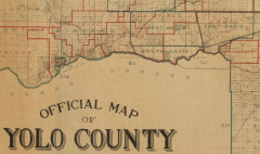 Old Yolo County map, showing part of Davis