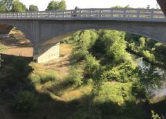 Putah Creek at Winters bridge, May 2021