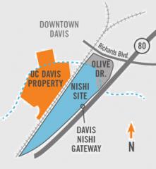 Nishi Gateway location map