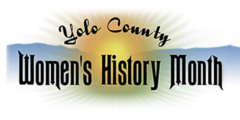 Yolo County Women's History Month logo