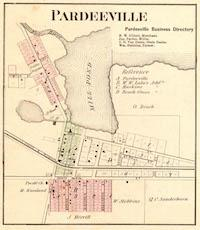Pardeeville WI map