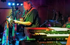 Gary Lee Yoder, playing at a Summer of Love 50th anniversary concert, Davis, CA