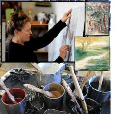 Adele Louise Shaw is an encaustic artist and art teacher