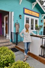 Picture is of Heather Caswell, Owner of The Wardrobe in Davis, CA
