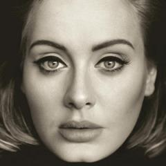 Adele's black and white mug staring at you like she's sorry for that thing she said
